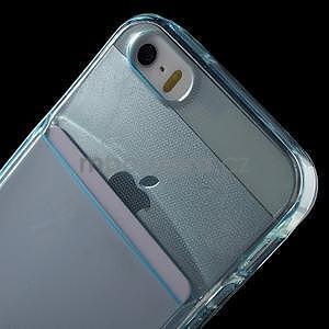 Ultra tenký obal s vreckom pre iPhone 5 a 5s - modrý - 6