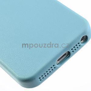 Gélový obal s textúrou na iPhone 5 a 5s - modrý - 6