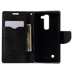 Diary PU kožené puzdro na LG G4c- čierne - 6