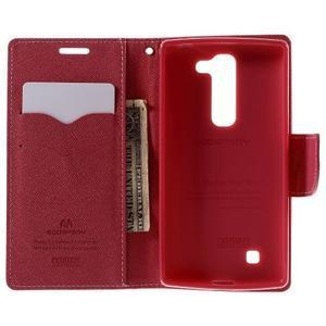 Diary PU kožené puzdro pre LG G4c- ružové - 6