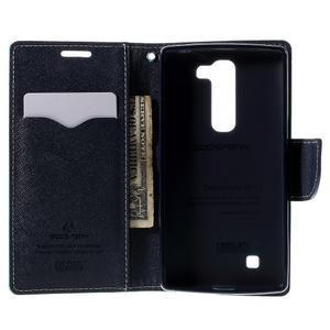 Diary PU kožené puzdro na LG G4c- cyan - 6