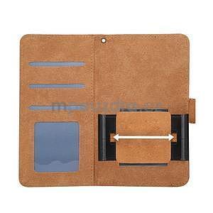 Croco PU kožené univerzálne puzdro na mobily do rozmeru 15,7 x 8 x1,8 cm - čierne - 6