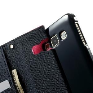 Diary PU kožené puzdro pre Samsung Galaxy A3 - rose - 6