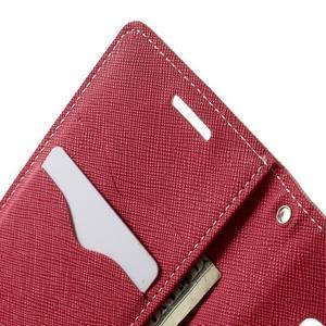 Diary PU kožené puzdro na Samsung Galaxy A3 - ružové - 6