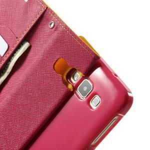 Diary PU kožené puzdro pre Samsung Galaxy A3 - žlté - 6