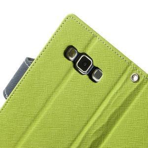 Diary PU kožené puzdro na Samsung Galaxy A3 - zelené - 6