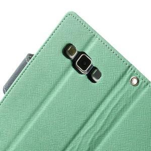 Diary PU kožené puzdro na Samsung Galaxy A3 - cyan - 6