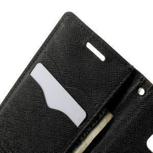 Diary PU kožené puzdro na Samsung Galaxy A3 -hnedé - 6
