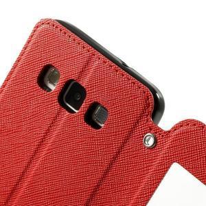 Roar peňaženkové puzdro s okienkom pre Samsung Galaxy A3    - červené - 6
