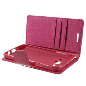 Luxury textilné / koženkové puzdro na Samsung Galaxy A3 - rose - 6