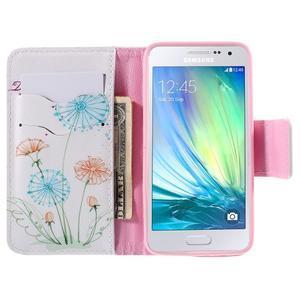 Peňaženkové púzdro na Samsung Galaxy A3 - kreslené púpavy - 6