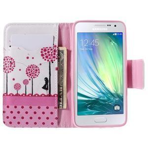 Peňaženkové púzdro pre Samsung Galaxy A3 - dots - 6