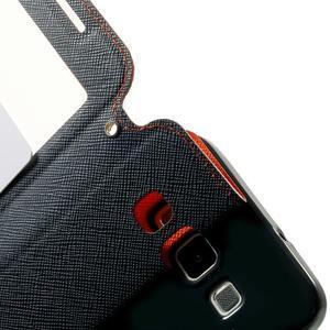 Roar peňaženkové puzdro s okienkom na Samsung Galaxy A3 - oranžové - 6