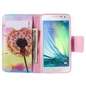 Peňaženkové púzdro na Samsung Galaxy A3 - oranžová púpava - 6