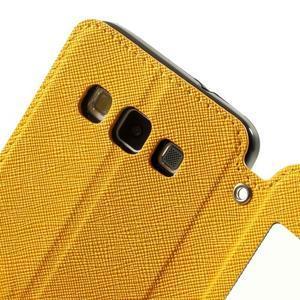Roar peňaženkové puzdro s okienkom pre Samsung Galaxy A3    - žlté - 6