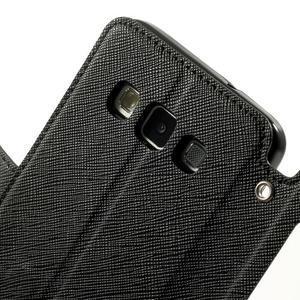 Roar peňaženkové puzdro s okienkom na Samsung Galaxy A3 - čierne - 6