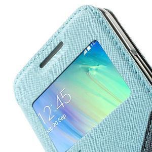 Roar peňaženkové puzdro s okienkom na Samsung Galaxy A3 - svetlomodré - 6
