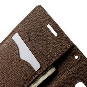 Diary PU kožené puzdro na Samsung Galaxy A3 - čierne/hnedé - 6