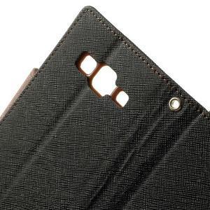 Fancy PU kožené puzdro pre Samsung Galaxy Core Prime - čierne/hnedé - 6