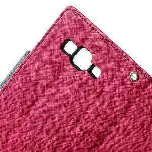 Fancy PU kožené puzdro pre Samsung Galaxy Core Prime - rose - 6