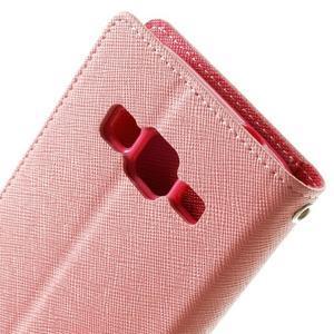 Fancy PU kožené puzdro pre Samsung Galaxy Core Prime - ružové - 6
