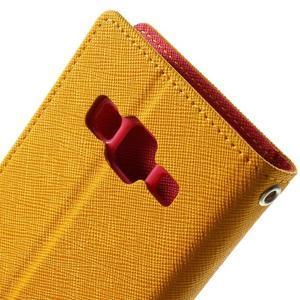 Fancy PU kožené puzdro pre Samsung Galaxy Core Prime - žlté - 6