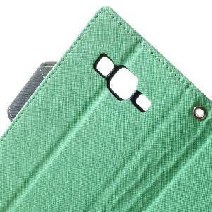 Fancy PU kožené pouzdro na Samsung Galaxy Core Prime - azurové - 6