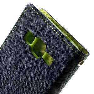 Fancy PU kožené puzdro pre Samsung Galaxy Core Prime - tmavomodré - 6