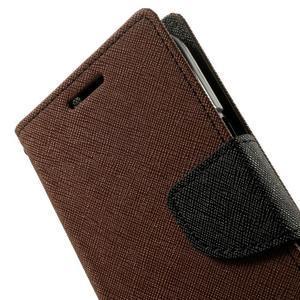 Fancy PU kožené pouzdro na Samsung Galaxy Core Prime - hnědé/černé - 6