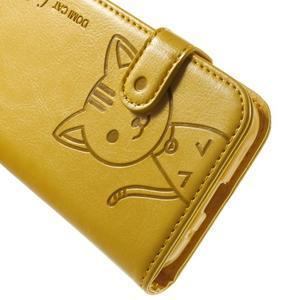 Kočička Domi pouzdro na Samsung Galaxy Core Prime - žluté - 6