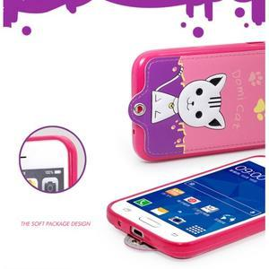 Mačička Domi obal pre mobil Samsung Galaxy Core Prime - rose - 6