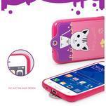 Mačička Domi obal pre mobil Samsung Galaxy Core Prime - rose - 6/7