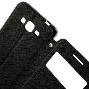 Safety puzdro s okienkom pre Samsung Galaxy Grand Prime - čierne - 6