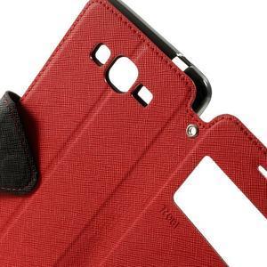 Safety puzdro s okienkom pre Samsung Galaxy Grand Prime - červené - 6
