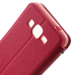 Safety puzdro s okienkom pre Samsung Galaxy Grand Prime - rose - 6