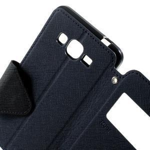 Safety puzdro s okienkom pre Samsung Galaxy Grand Prime - tmavomodré - 6