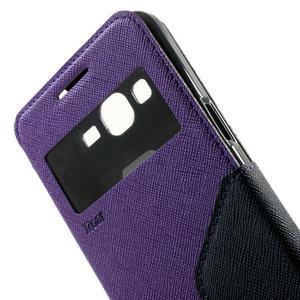 Safety puzdro s okienkom pre Samsung Galaxy Grand Prime - fialové - 6