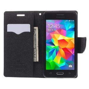 Diary PU kožené puzdro na mobil Samsung Galaxy Grand Prime - čierne - 6