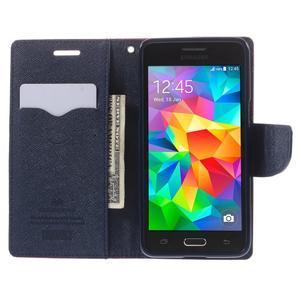 Diary PU kožené puzdro na mobil Samsung Galaxy Grand Prime - červené - 6