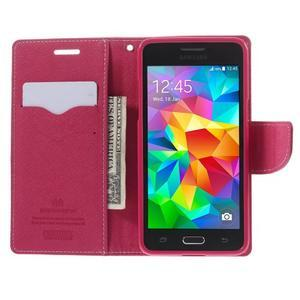 Diary PU kožené puzdro na mobil Samsung Galaxy Grand Prime - ružové - 6