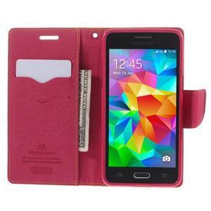 Diary PU kožené puzdro na mobil Samsung Galaxy Grand Prime - žlté - 6