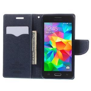 Diary PU kožené puzdro pre mobil Samsung Galaxy Grand Prime - cyan - 6