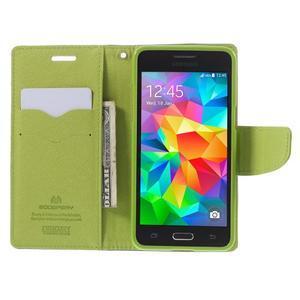 Diary PU kožené puzdro pre mobil Samsung Galaxy Grand Prime - tmavomodré - 6
