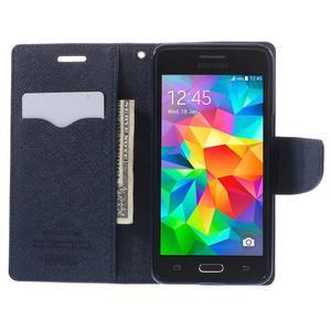 Diary PU kožené puzdro na mobil Samsung Galaxy Grand Prime - fialové - 6