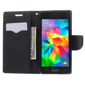 Diary PU kožené puzdro na mobil Samsung Galaxy Grand Prime - hnedé - 6