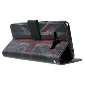 Wallet PU kožené puzdro pre mobil Samsung Galaxy Grand Prime - UK vlajka - 6