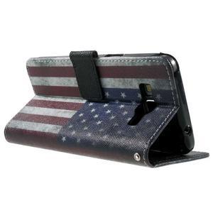 Wallet PU kožené puzdro na mobil Samsung Galaxy Grand Prime - US vlajka - 6