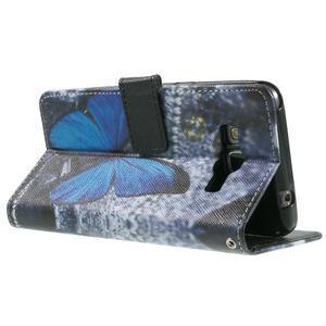 Wallet PU kožené puzdro na mobil Samsung Galaxy Grand Prime - modrý motýľ - 6