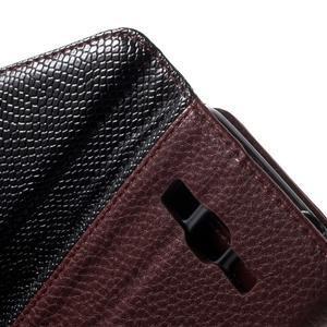 Writes elegantné puzdro pre Samsung Galaxy Grand Prime - hnedé - 6