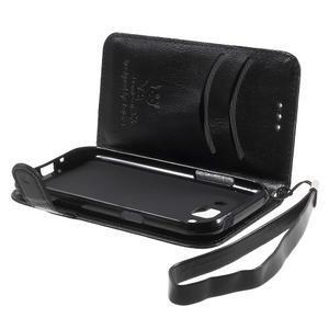Koženkové puzdro s mačičkou Domi na Samsung Galaxy J1 - čierne - 6